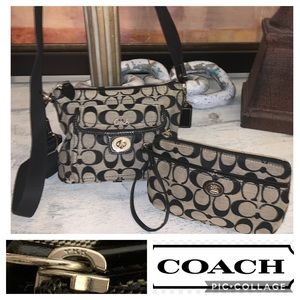 Coach crossbody & wristlet wallet